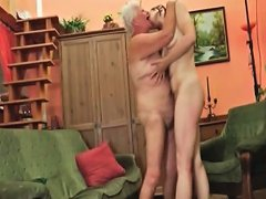 Horny Teen Girl Licking A Granny